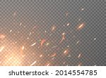 fire sparks. flying particles... | Shutterstock .eps vector #2014554785