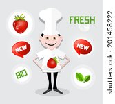 chef   cook illustration with... | Shutterstock . vector #201458222