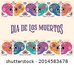 day of the dead  dia de los... | Shutterstock .eps vector #2014583678