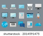 computers and laptops with... | Shutterstock .eps vector #2014591475