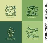 gardening  horticulture vector... | Shutterstock .eps vector #2014607282