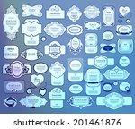 mega set of thin lineretro... | Shutterstock .eps vector #201461876