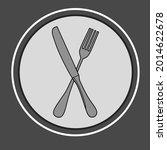 knife and fork vector... | Shutterstock .eps vector #2014622678