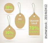 vector illustration of sale tags | Shutterstock .eps vector #201463412