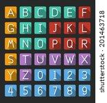 line alphabet   number flat...
