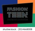 vector creative poster fashion... | Shutterstock .eps vector #2014668008