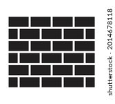 wall brick icon vector for...