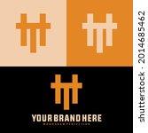 monogram logo letter h  t  ht... | Shutterstock .eps vector #2014685462
