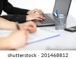 hands of two young... | Shutterstock . vector #201468812