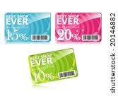 discount cards | Shutterstock .eps vector #20146882