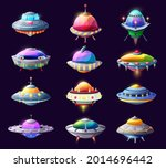 cartoon ufo alien spaceships...