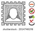 mesh postal mark web 2d vector... | Shutterstock .eps vector #2014748198