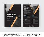 vector brochure template  front ... | Shutterstock .eps vector #2014757015