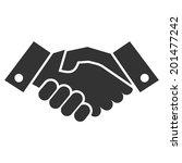 handshake   Shutterstock .eps vector #201477242