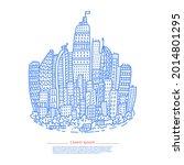 isolated big city metropolis...   Shutterstock .eps vector #2014801295