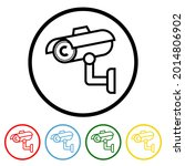 security camera icon with color ...   Shutterstock .eps vector #2014806902