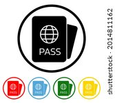 passport icon with color...   Shutterstock .eps vector #2014811162