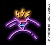 damaged optical fiber neon... | Shutterstock .eps vector #2014820528