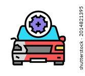 body damage repair color icon... | Shutterstock .eps vector #2014821395