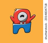 doodle monsters can be... | Shutterstock .eps vector #2014834718