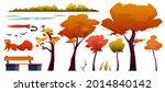 autumn landscape elements set... | Shutterstock .eps vector #2014840142
