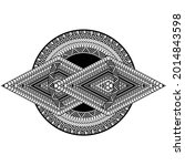 special polynesian tattoo.... | Shutterstock .eps vector #2014843598