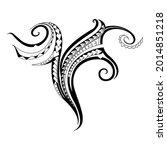 specially tattooed polynesian.... | Shutterstock .eps vector #2014851218