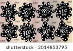 best discount trendy sign price ...   Shutterstock .eps vector #2014853795
