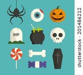 halloween symbol illustration... | Shutterstock .eps vector #201486212