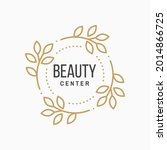 beauty center with flowers for...   Shutterstock .eps vector #2014866725
