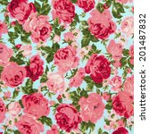 vintage style of tapestry... | Shutterstock . vector #201487832