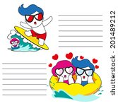 sea of lovers paper note... | Shutterstock .eps vector #201489212