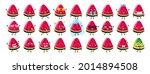 summer cute kawaii watermelon...   Shutterstock .eps vector #2014894508