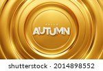hello autumn. paper label on...   Shutterstock .eps vector #2014898552