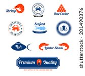 seafood restaurant supplies... | Shutterstock .eps vector #201490376