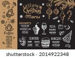 christmas menu cafe. food flyer....   Shutterstock .eps vector #2014922348