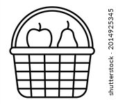 vector fruits basket outline...   Shutterstock .eps vector #2014925345