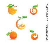 orange logo design vector icon...   Shutterstock .eps vector #2014928342