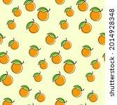 orange fruit seamless design...   Shutterstock .eps vector #2014928348