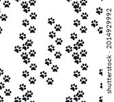 animal footprint seamless... | Shutterstock .eps vector #2014929992
