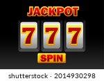 777 symbol  black slot machine...