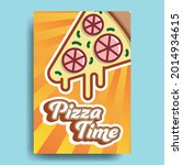 pizza slice flyer and text...   Shutterstock .eps vector #2014934615