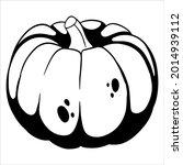 vegetarian food. ripe pumpkin....   Shutterstock .eps vector #2014939112