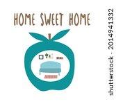 inscription home sweet home....   Shutterstock .eps vector #2014941332