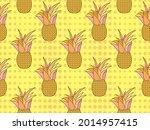 pineapple seamless pattern....   Shutterstock .eps vector #2014957415
