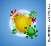 coronavirus protection. help... | Shutterstock .eps vector #2014957622