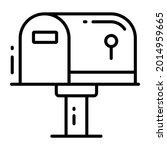 letterbox trendy icon  line...