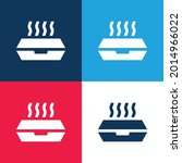 box blue and red four color...   Shutterstock .eps vector #2014966022