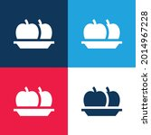 apple blue and red four color...   Shutterstock .eps vector #2014967228