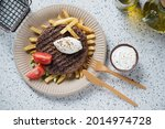 carton plate with grilled...